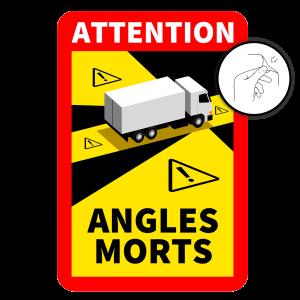 Dode Hoek Sticker Frankrijk - Permanent